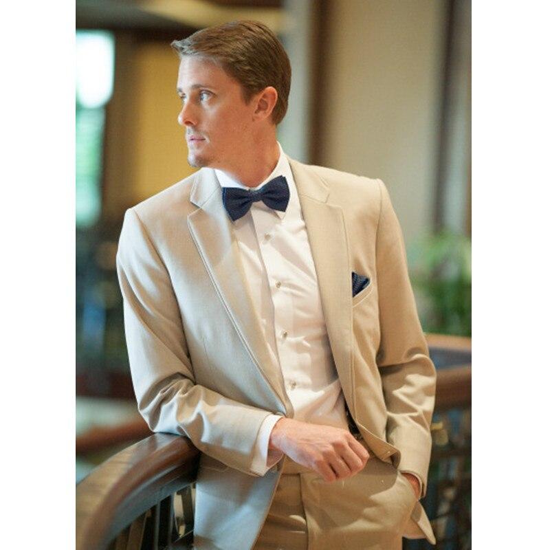 Champagne Tan Men Suit Casual Blazer Wedding Suits for Men Slim Fit Skinny 2 Piece Wedding Prom Suits (Jacket+Pants)