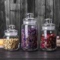 Портативная стеклянная банка для хранения чая  прозрачная коробка для хранения бутылок  влагостойкий Органайзер  канистра