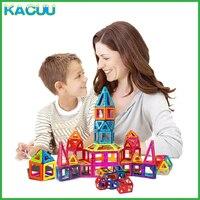 KACUU 61 135PCS Big Size Designer Magnetic Blocks Set Building Magnets Toy Magnetic Constructor Blocks Toys For Children