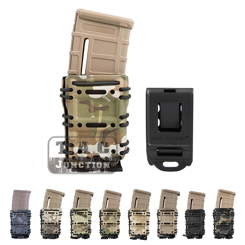 Emerson Tactical MOLLE and Belt Clip M4 M16 / AR15 556 5.56 .223 Mag Pouch Emersongear Magazine Carrier Holder-in Holsters from Sports & Entertainment