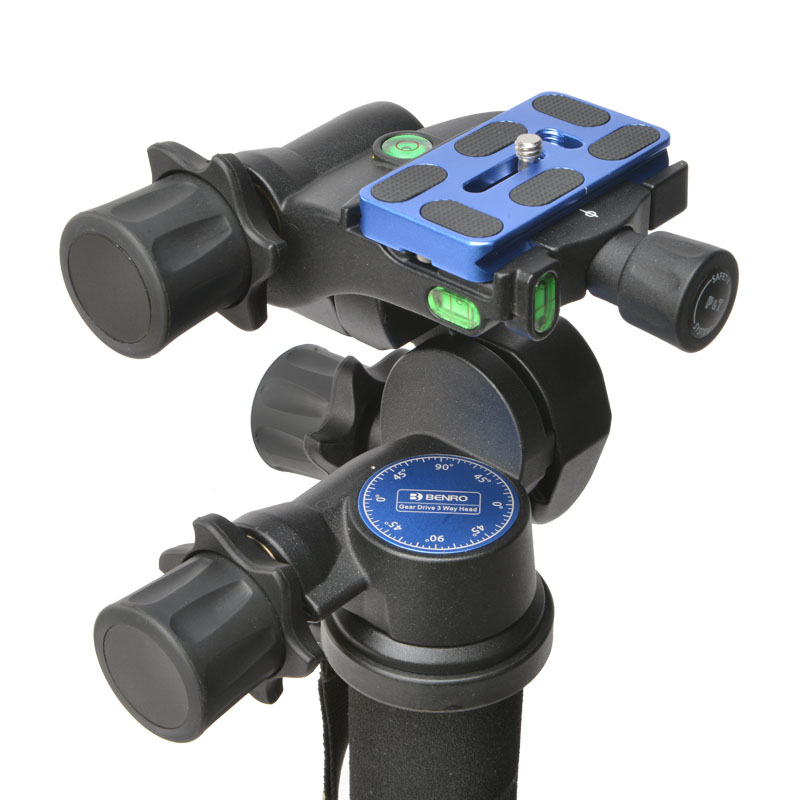 Benro GD3WH 3D gear PTZ SLR photography tripod panoramic shooting head PU Universal quick release plate Load-bearing 6kg