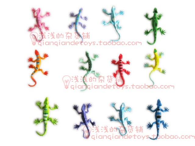MINI  solid  eco-friendly  plastic Gecko lizard 12PCS/lot  4-6CM