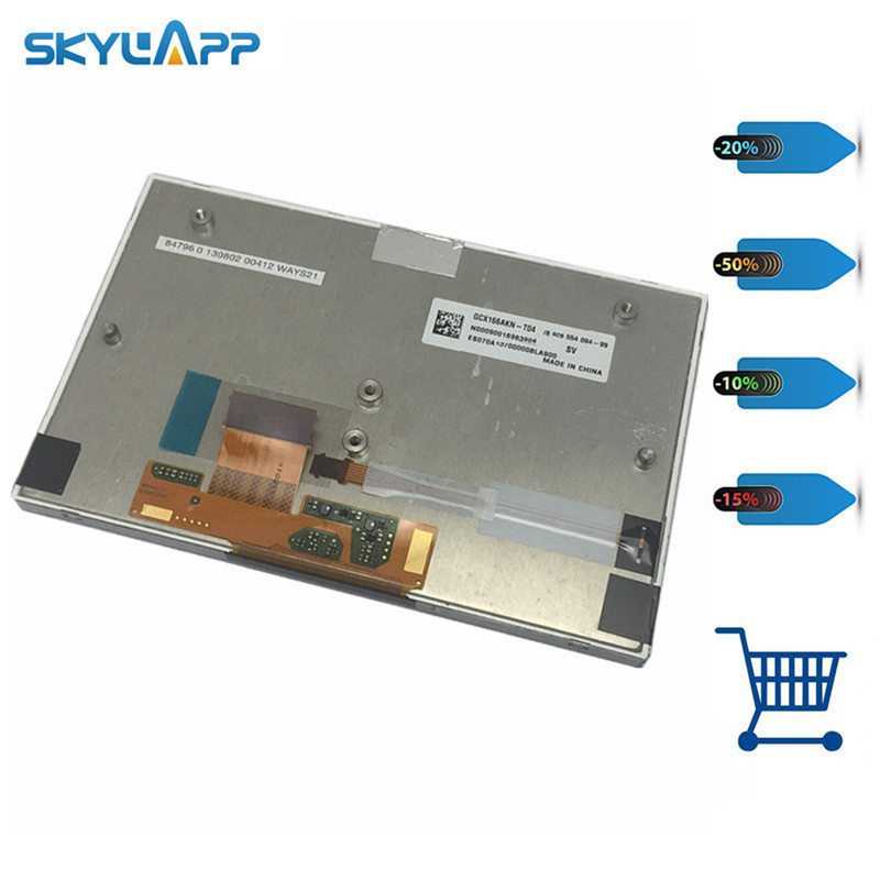 Skylarpu GPS LCD screen display panel N00090016963904 ES070A137000008LA900 for GCX166AKN-T04 (without touch) Free shipping skylarpu 7 inch lcd screen for at070tn83 v 1 lcd display screen panel for car gps dvd display free shipping without touch