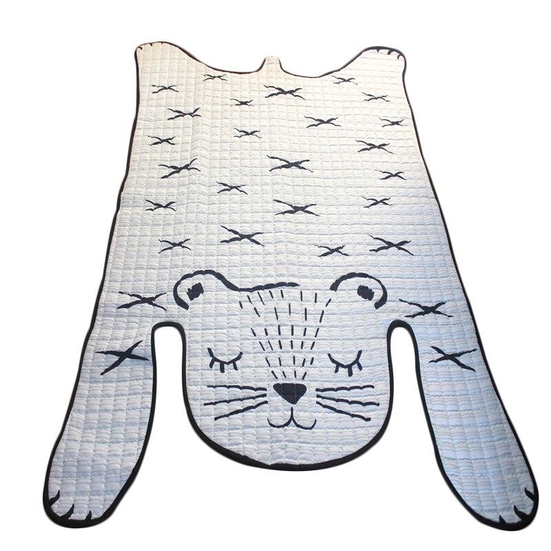 Nordique Ins tigre forme tapis pour salon bébé tapis doux enfants chambre tapis plancher coton tapis créatif enfants jouer tapis