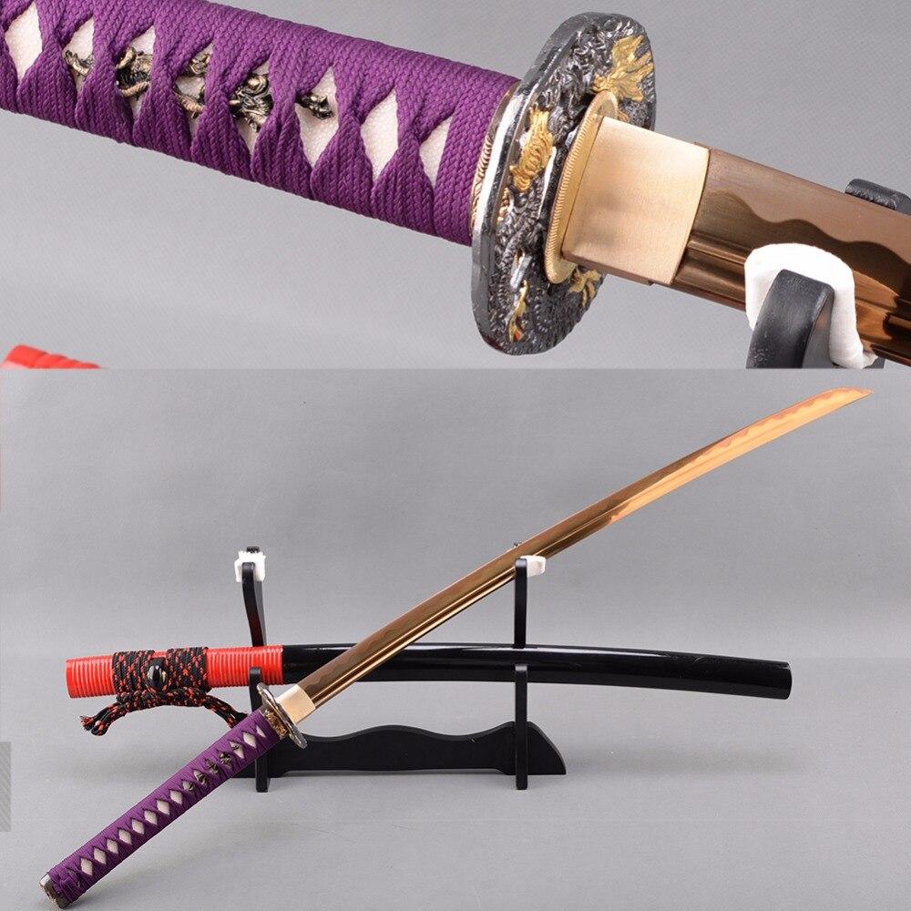 Shijian schwerter echte japanische schwerter mangan stahl galvani ...