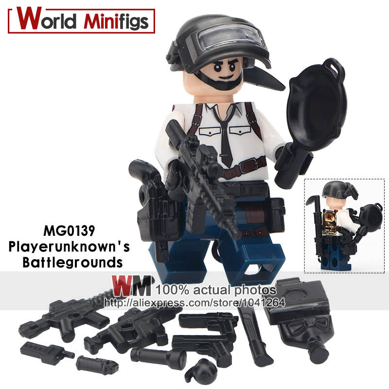 50pcs Playerunknowns Battlegrounds A Tactical Competitive Shooting Sandbox Game Building Blocks Bricks Friends Toys For Boys Model Building Blocks