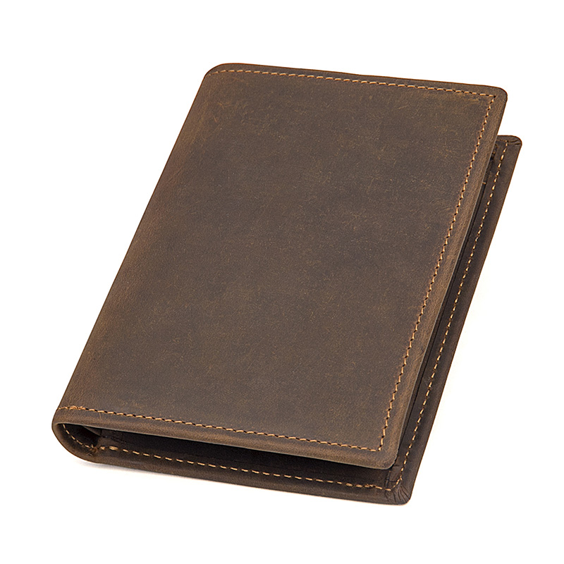 J.M.DJ.M.D Good Quality Crazy Horse Leather ID Card Holder Case Purse Solid Classic Wallet For Men R-8164-2R never leather badge holder business card holder neck lanyards for id cards waterproof antimagnetic card sets school supplies