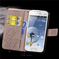 Caso para Samsung Galaxy S Duos GT S7562 GT-S7562 7562 tendencia más S7580 S7582 GT-S7580 GT-S7582 Flip caso de la cubierta de lujo de cuero