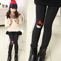 Girls Pants Thicken Plus Velvet Leggings For Girls Kids Clothes 2016 Winter Cartoon Trousers Girls  Clothes 2 6 8 10 11 12 Years