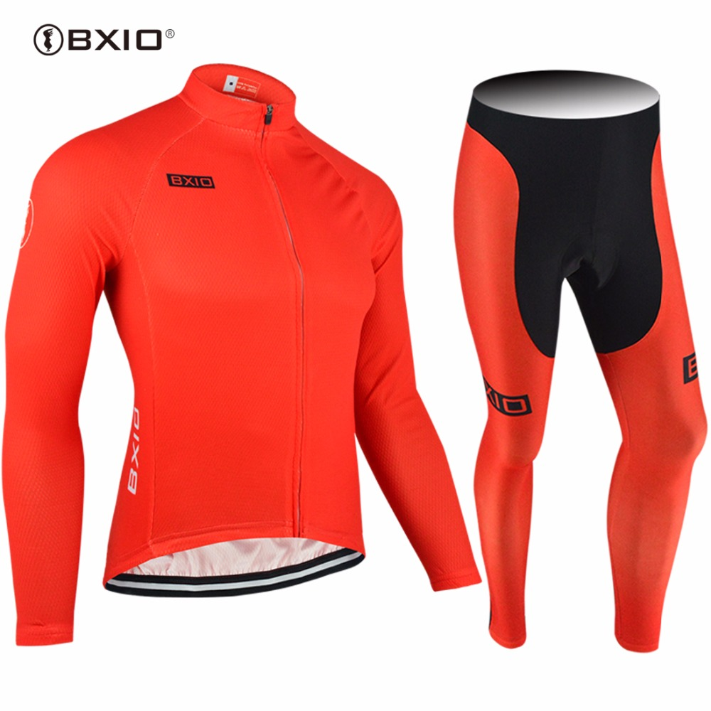 2017 New Arrival BXIO Red Cycling Set OEM Customer Jersey Bike Clothing Maillot Ciclismo Hombres Long Pro Bicycle Clothes 088 2017 new arrival bxio maillot ciclismo hombres cycling jersey mtb bike clothing long pro team autumn bicycle clothes bx 0109h095