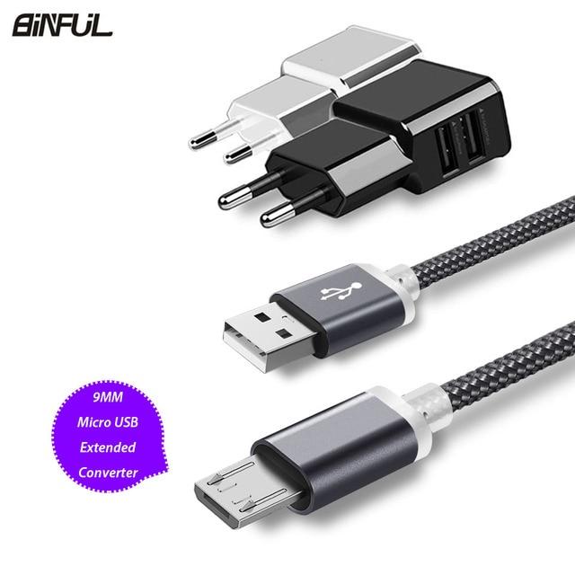 9mm Thêm Dài Micro USB Sạc Cáp Cho Oukitel K10000/K3/C8 Blackview A7/A20/ a30/BV6000 Leagoo Kiicaa Điện Sạc Cabel