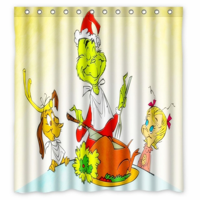 Vixm Home How The Grinch Stole Christmas Fabric Shower Curtains Mildew Waterproof For Bathroom With