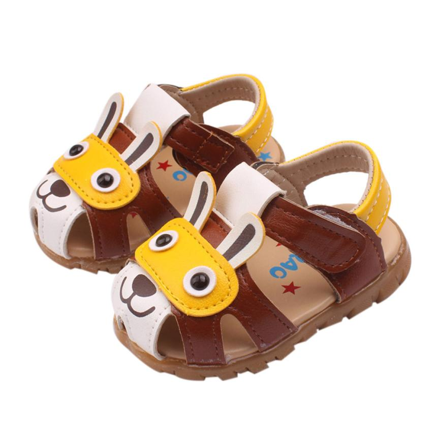 Baby Sandals 2017 Fashion Toddler Kids Baby Boys Summer Shoes With Flashing Lights Sandals Cartoon Shoes D50