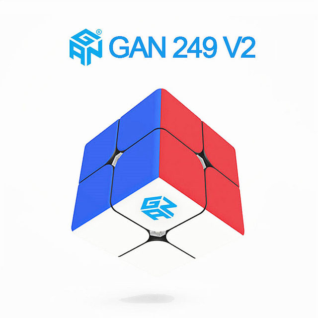 GAN249 v2 M Magnetic 2x2x2 Magic Cube Stickerless V2M Pocket Cubes Professional Magnets Puzzle Speed Cube Gans 249 2×2 Cube