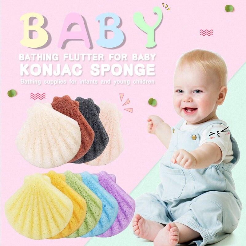 Bebé Suave No-irritante Natural 1 Piezas Konjac Puff Cosmético De Limpiador De Esponja De Maquillaje Facial Herramienta De Limpieza Liso Esencial