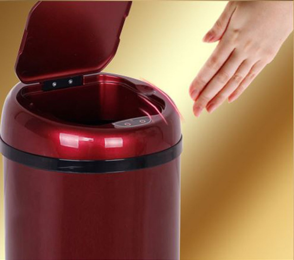 3L Sensor Dustbin Auttomatic Dustbin Garbage Trash Can Wastebin Ash-bin Round shape sensor bin