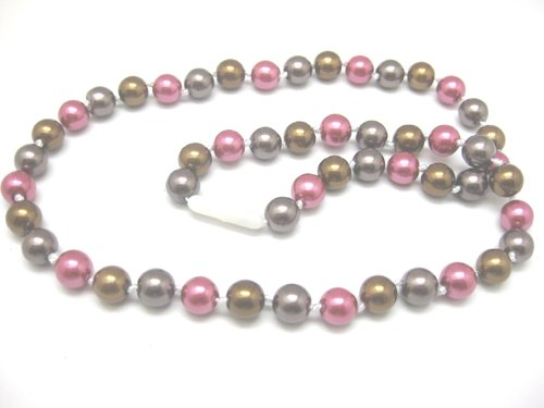 Perle ronds avec orange-rouge-lignes noires environ 14x5,5 mm perles h.al-3