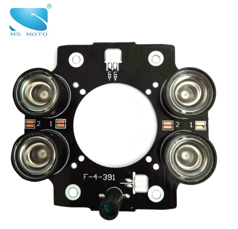 IR ILLUMINATOR INFRARED LIGHT BOARD CCTV IR CAMERA LIGHT BOARD 4PCS 42MIL HIGH POWER ARRAY IR LED WITH DRIVE BOARD