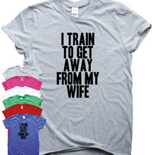 d48bf1b7 Get Away from My Wife funny gym T-shirt womens mens training humour workout  top