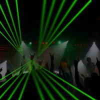 Super Cool 1Pc Red Green Laser Gloves Dancing Stage Show Light With 4 Pcs Lasers And