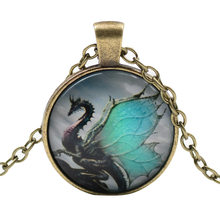 Fashion Hot sale Pterosaurs time pendant necklace diy jewelry Fashion dragon Accessories necklace(China)