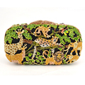 Zoo Inspired Crystal Purse evening bags women pochette soiree Monkey Lion Shape Clutches party ladies Clutch bag SC045