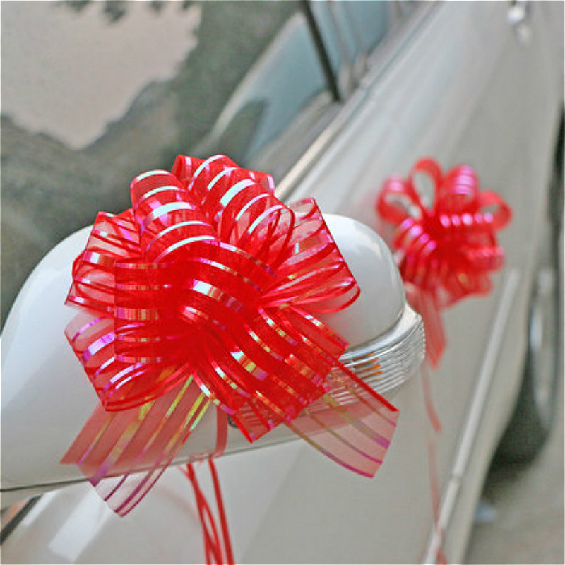 10pcs Wedding Car Decorations Gift Packing Pull Bow Ribbons Baby Shower Birthday Party Decorations Adult Event Party Decoration