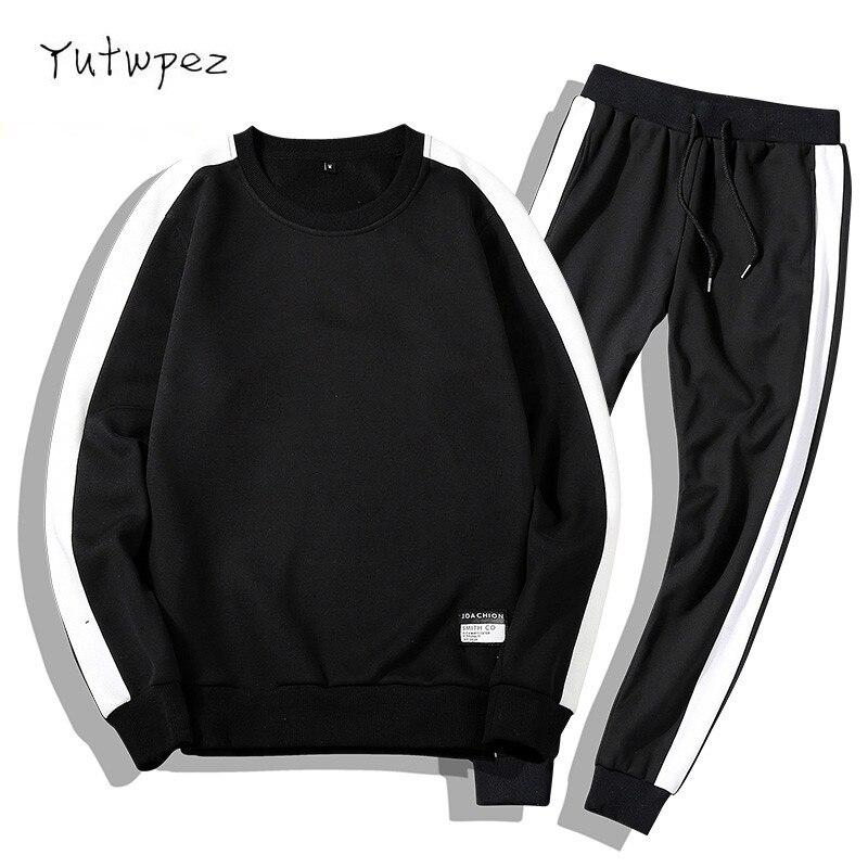 Tracksuits Men Clothing Sweatshirts Hoodies Outfit Outwear Pants 2PC Coats Set Moleton