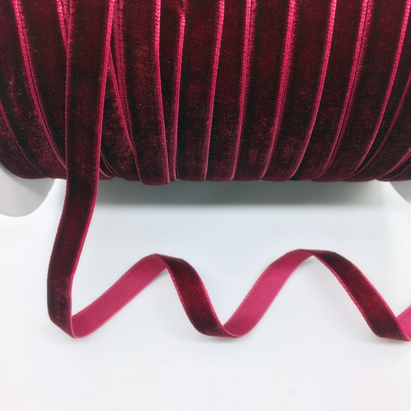 "5 Yards 3 8 10mm Velvet Ribbon Wedding Party Decoration Handmade Ribbon Gift Wrapping Hair Bows 5 Yards 3/8""(10mm) Velvet Ribbon Wedding Party Decoration Handmade Ribbon Gift Wrapping Hair Bows DIY Christmas Ribbon"
