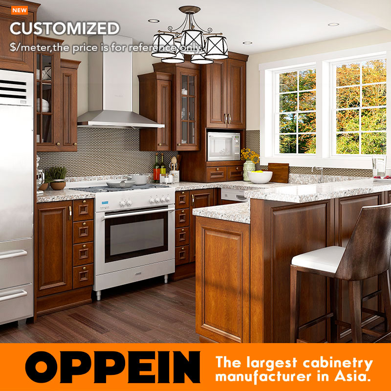 12 Square Meters U Shaped American Style Kitchen Cabinet