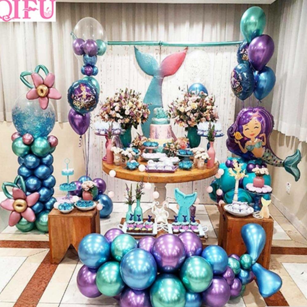 Lowered Qifu Little Mermaid Party Supplies Theme Mermaid Decor