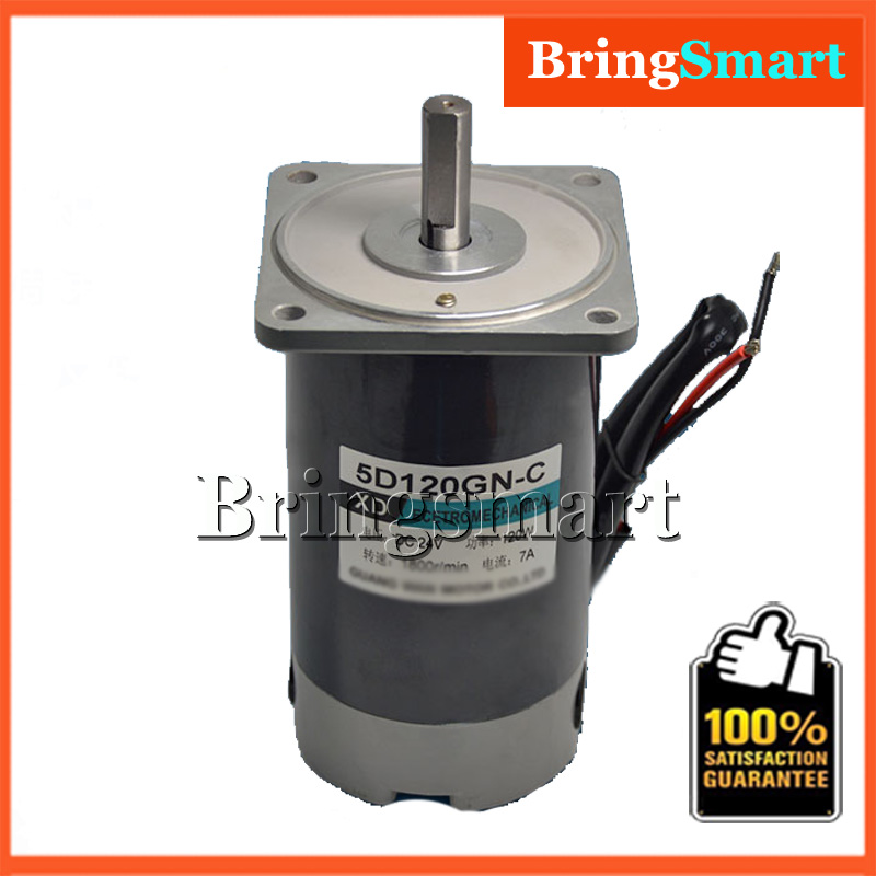 5D120GN-C 12 Volt DC High Speed 1800rpm Permanent Magnet Motor 120W 24V 3000rpm DC Speed Regulation Reversible Electric Motor europe and usa style electric scooter permanent magnet high speed reversing motor dc12v 24v my6812 100w 120w 150w
