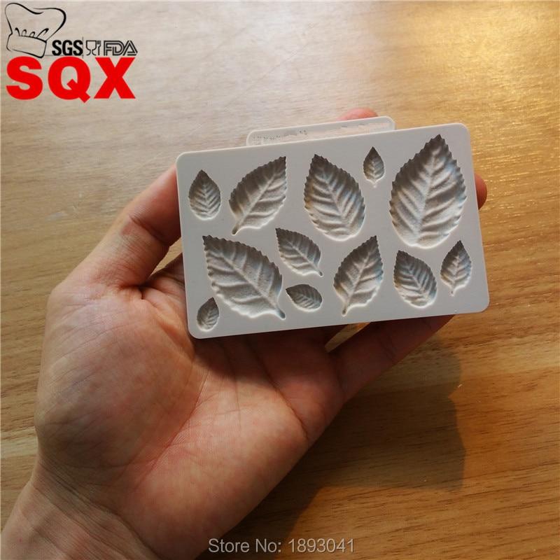 Новое поступление, силиконовая форма в форме листьев, форма для сахарного торта, инструменты для украшения торта, кухонные аксессуары SQ16371