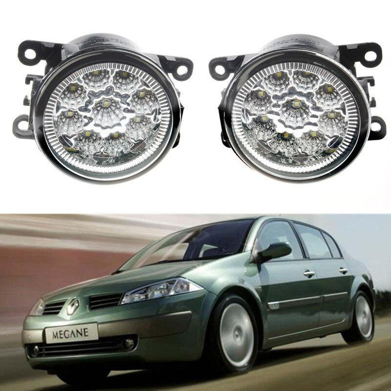 Prix pour Pour Renault MEGANE 2 Berline LM0 LM1 2003-2015 Car styling pare-chocs avant LED brouillard Lumières haute luminosité brouillard lampes 1 set