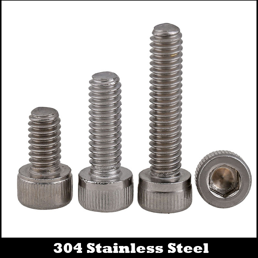 4# #4-40 1/2 5/8 3/4 1 Inch Length 304 Stainless Steel US UNC Coarse Thread Allen Head Screw Cap Hex Hexagon Socket Bolt 1 4