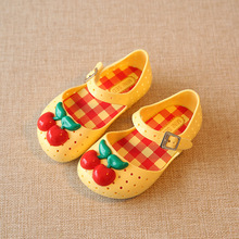 2019 Mini SED girl Shoes For kids Baby Rubber Cute Cherry Sa