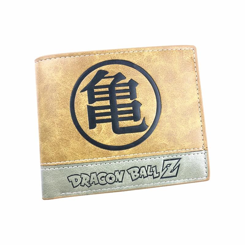 kids leather brown wallet dragon ball Z wallets  comic zelda overwatch minecraft totoro Tokyo Ghou purse wallet