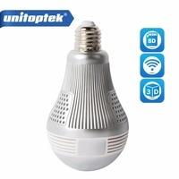 960P 1080P 3MP 5MP Bulb Light Wireless IP Camera Wi Fi FishEye 360 Degrees CCTV 3D