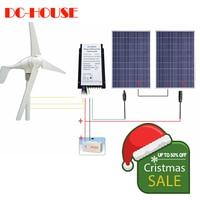 AU со нет налога нет долг Ежедневно 24 В в 600 Вт/ч гибридная система Комплект: Вт 400 Вт ветряной генератор и Вт 200 Вт PV панели солнечные