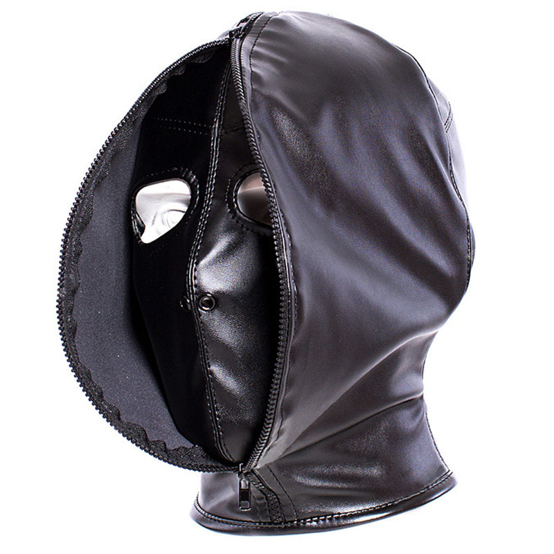 New type adult games cosplay head bondage hood mask leather bdsm tools sex toys for couples slave fetish restraints headgear bdsm sex leather hood mask headgear bondage restraints belt dog slave in adult games fetish flirting toys for women