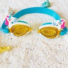 Мультяшные детские силиконовые водонепроницаемые очки для плавания в бассейне очки аксессуары для мальчиков и девочек