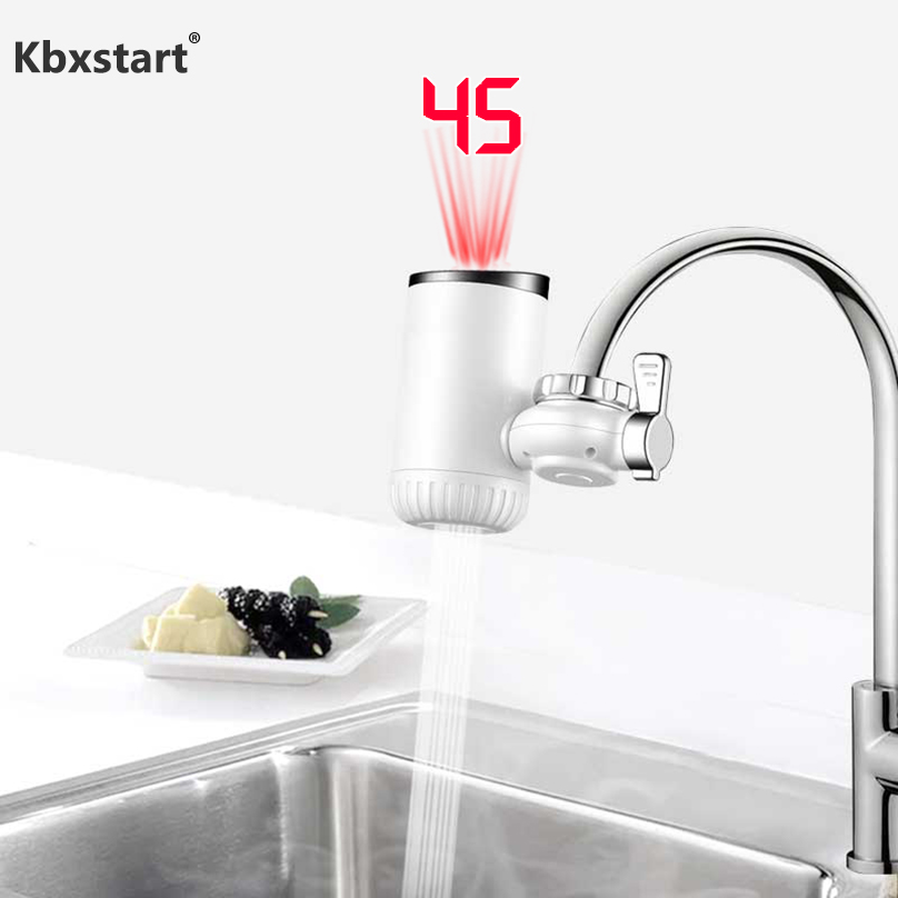 Kbxstart 3000W Kitchen Instant Faucet Front Heater Fast Electric Water Heater Cold Hot Water Mixer Calefactor With Led Display
