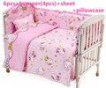 Promoción! 6 unids Hello Kitty juegos de cama recién nacido, funda nórdica, 100% algodón kit de cama cuna conjunto, 120 * 60 / 120 * 70 cm
