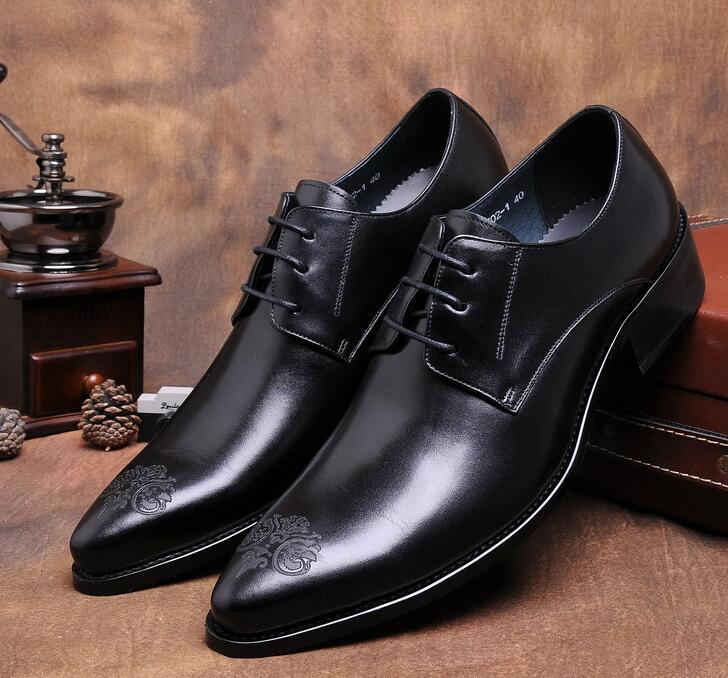 Apontou Masculino Sapatos Lace Vinho De Couro Em Dos Negócios Relevo Vestido Britânico Casamento Preto vermelho Esculpido Homens Toe up Europeu qnYgEwvSg