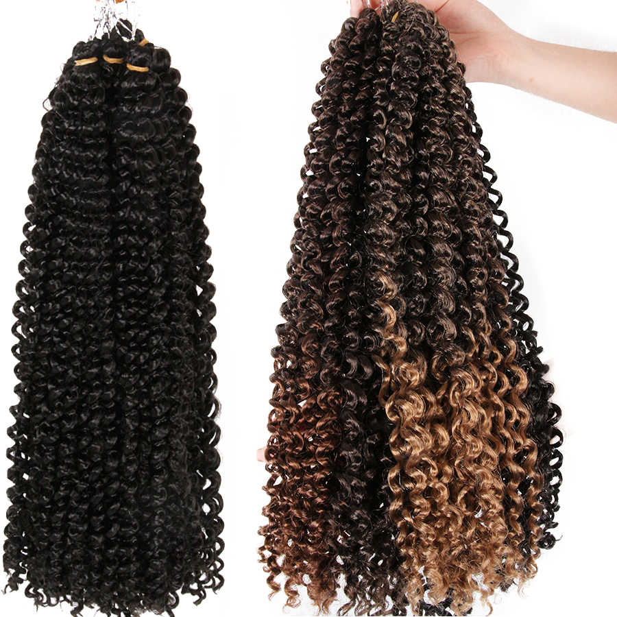 AliLeader Passion Twist Hair 18 Inch Long Bohemian Braid Freetress Crochet Braiding 30 Strands Synthetic Natural Hair Extension