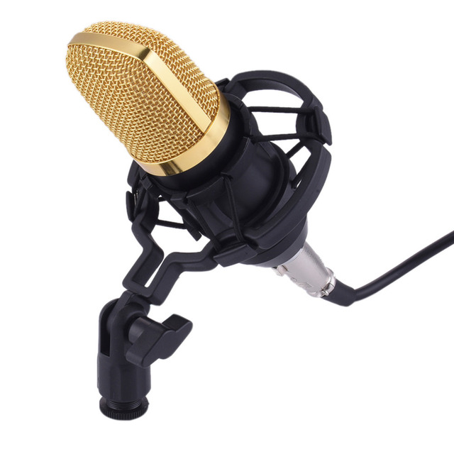 Профессиональный КТВ Микрофон BM700 Конденсаторный Кардиоидный Pro Audio Studio Запись Вокала Микрофон КТВ Караоке + Металл Подвес