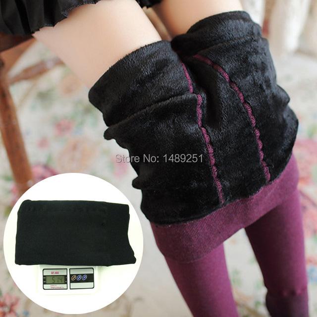 Mulheres Inverno Calças Quentes de Espessura Norte Frio do Inverno Colorido Algodão Pilling Meia-calça 500g Meias De Ginástica Frete Grátis