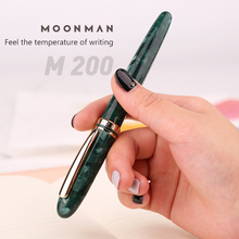 New Moonman M200 Celluloid Resin Acrylic Fountain Pen Germany Schmidt Fine Nib 0.5mm Excellent Fashion Office Writing Gift Set