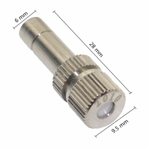 Image 2 - 50 Pcs 6mm Low Pressure 0.2 0.6mm Stainless Steel Fog Misting Nozzles 6mm Connectors Garden Water Irrigation Sprinkler Fittings