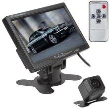 цена на 7 Inch TFT LCD 800x480 HD 2 Video Input Car Rear View Headrest Monitor E313 420 TV Lines 170 Degrees Reverse Backup Car Camera